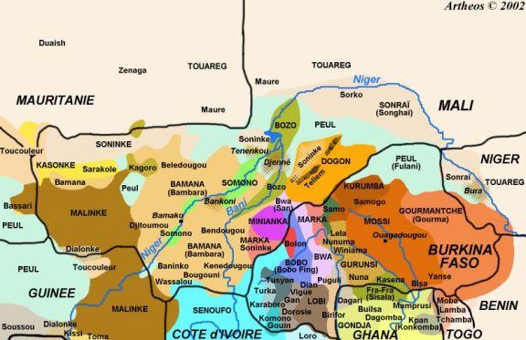 Mapa étnico de Mali